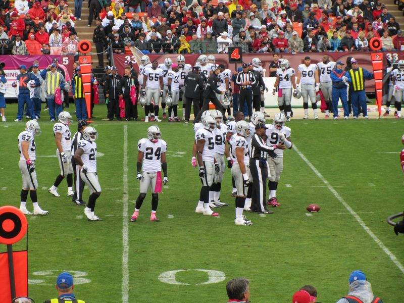 oakland raiders at candlestick park