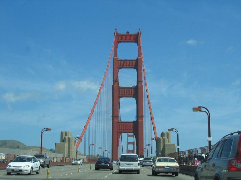Golden Gate Bridge toward marin
