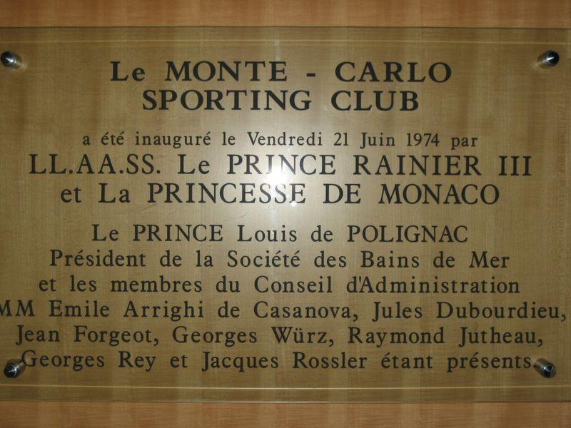 Le Monte Carlo Sporting Club, Monaco