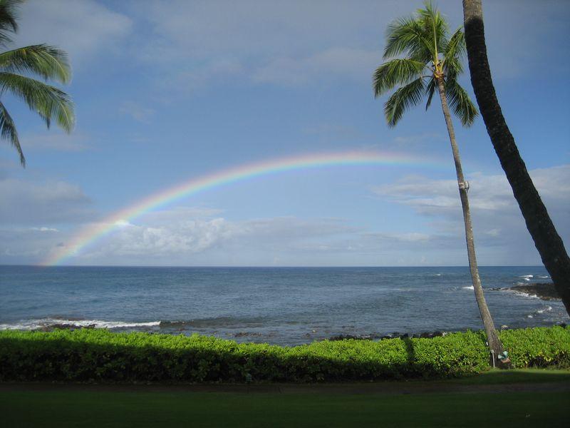 Rainbow over Poipu Beach