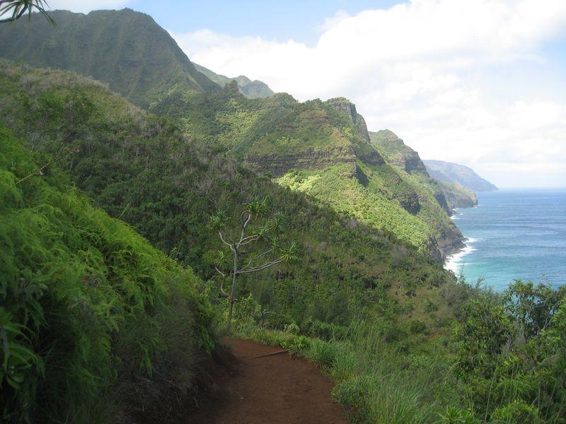 Hanakapi'ai Trail and Na Pali coastline Kauai