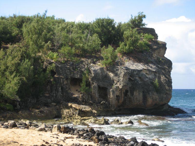 Shipwreck's Rock near Poipu Beach Kauai