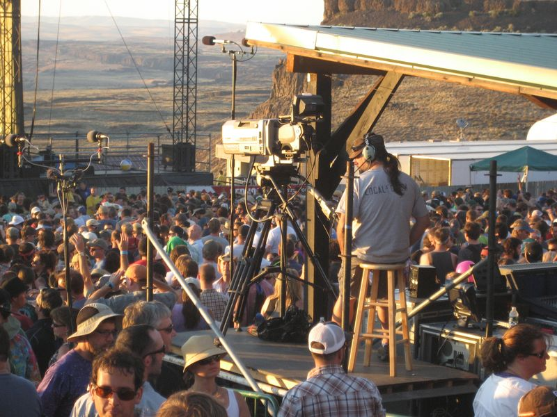 Camera Operator at Phish at the Gorge 8/5/11