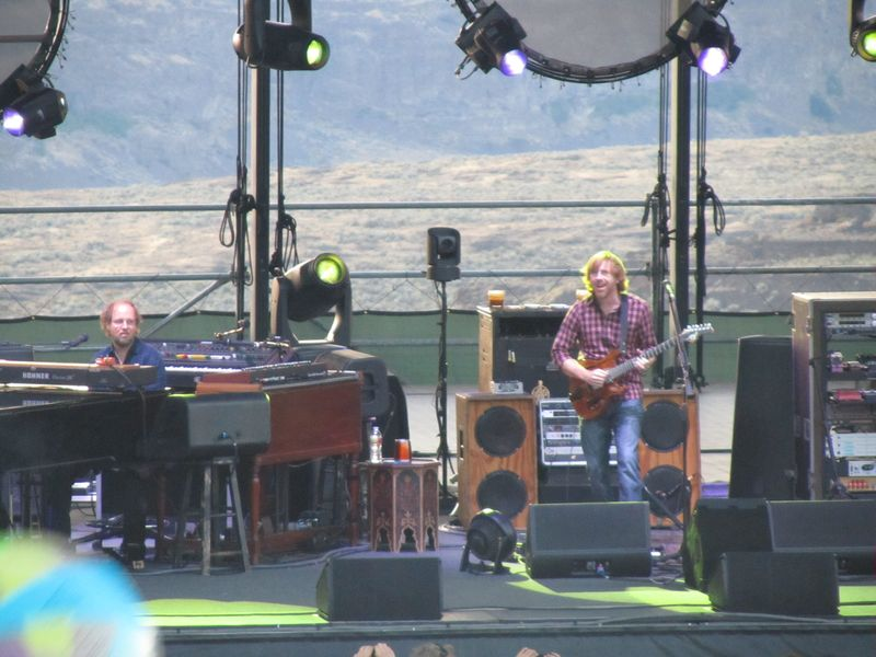 Page McConnell and Trey Anastasio of Phish at the Gorge 8/6/11