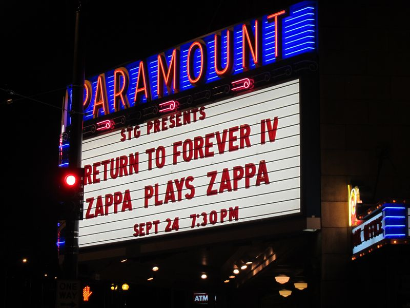 Seattle Paramount Zappa Plays Zappa and Return to Forever