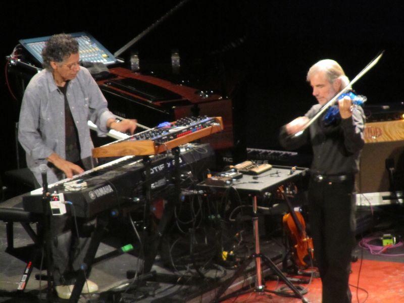 Chick Corea and Jean Luc-Ponty of Return to Forever at Seattle Paramount 9/24/11