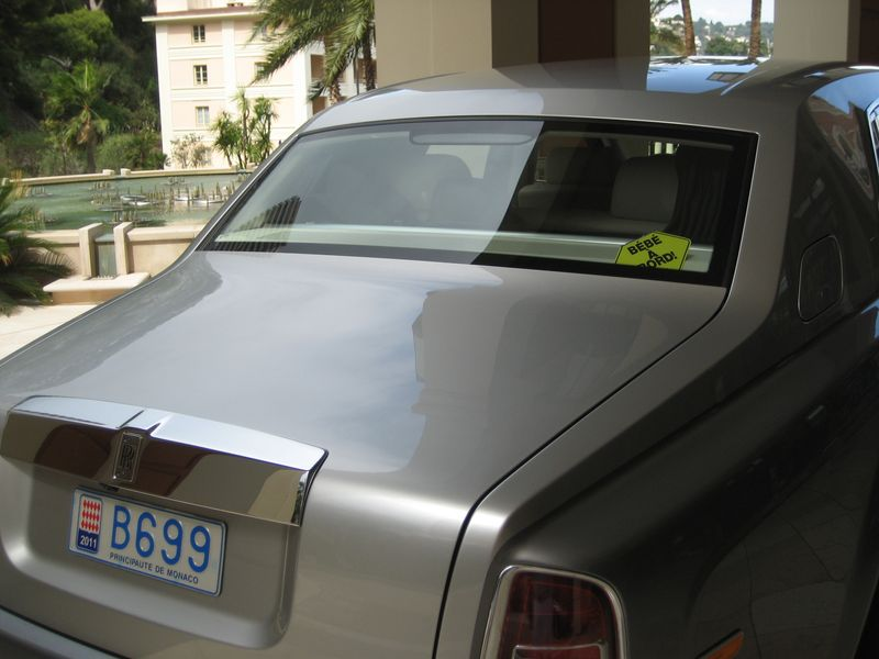 Rolls Royce with only baby on baord, Monte Carlo, Monaco
