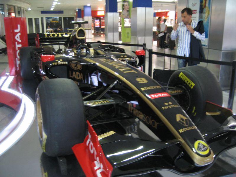 F1 car at Nice, France airport