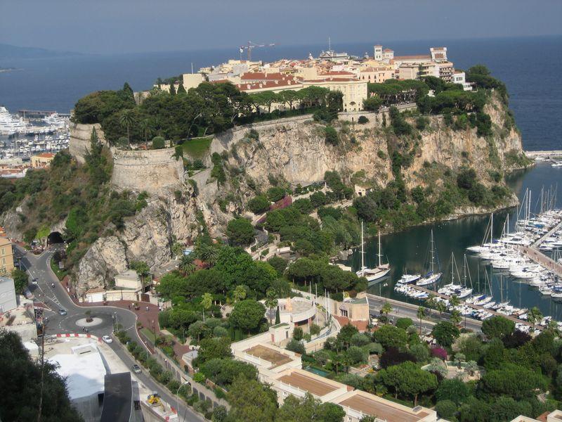 Rock of Grimaldi, Monte Carlo, Monaco