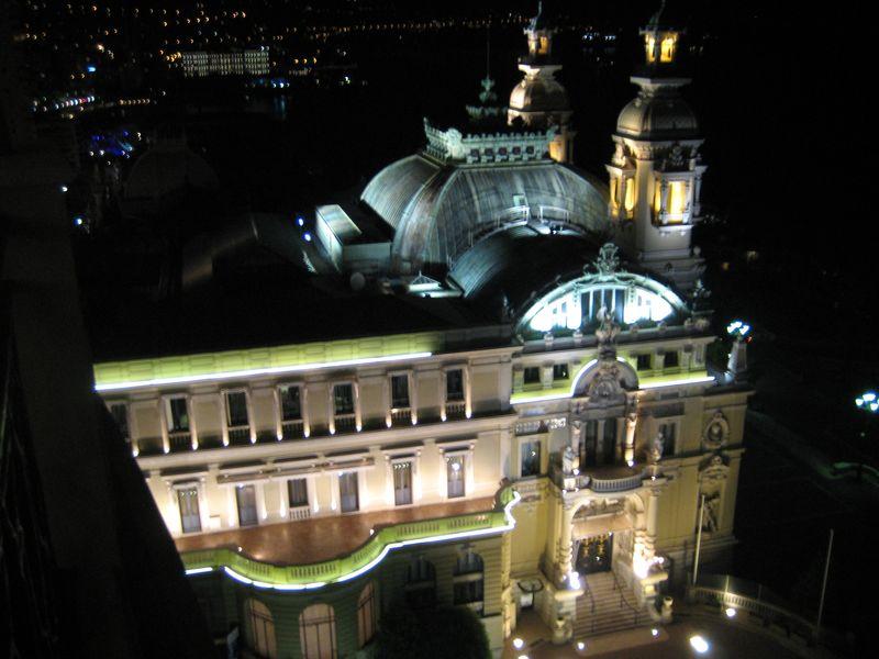Casino, Monte Carlo, Monaco taken from Alain Ducasse's Le Grill