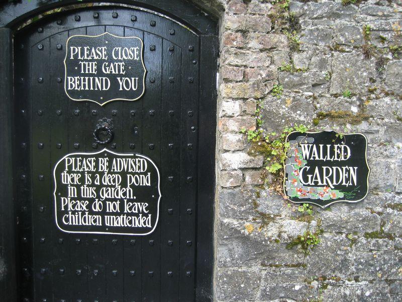 Walled garden at Dromoland Castle, Ireland