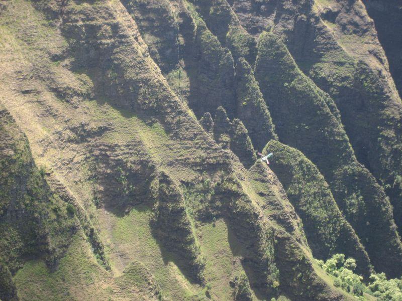 Helicopter off Awa'awapuhi Trail Kauai