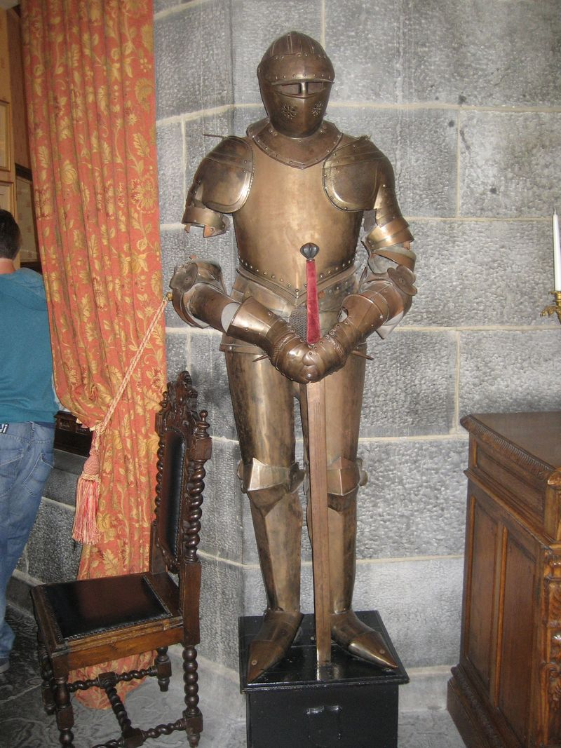 Suit of armor at Dromoland Castle, County Clare, Ireland