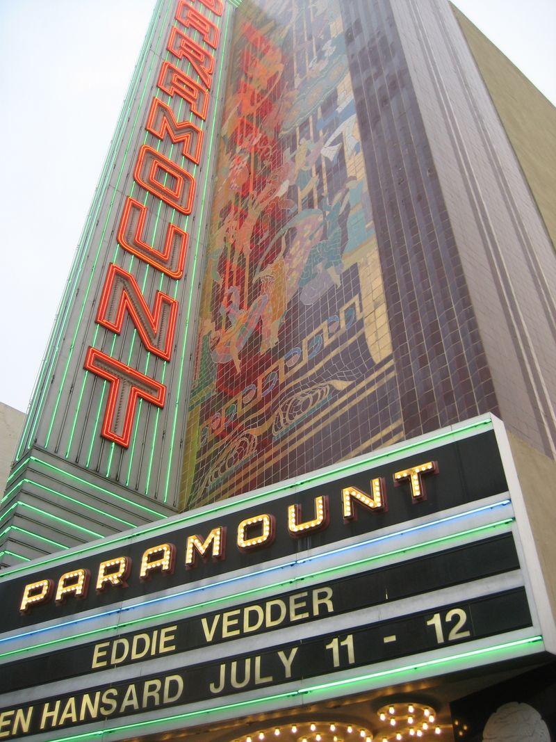 Eddie Vedder at Oakland Paramount