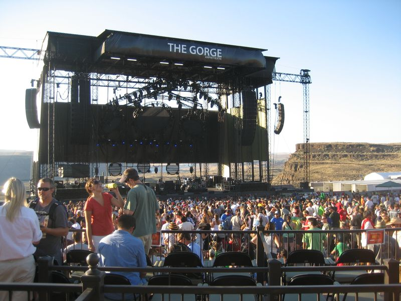 Phish at the Gorge from Box 220