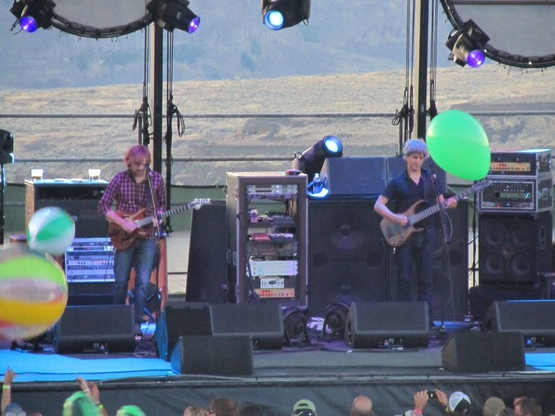 Trey Anastasio and Mike gordon of Phish at The Gorge 8/6/11