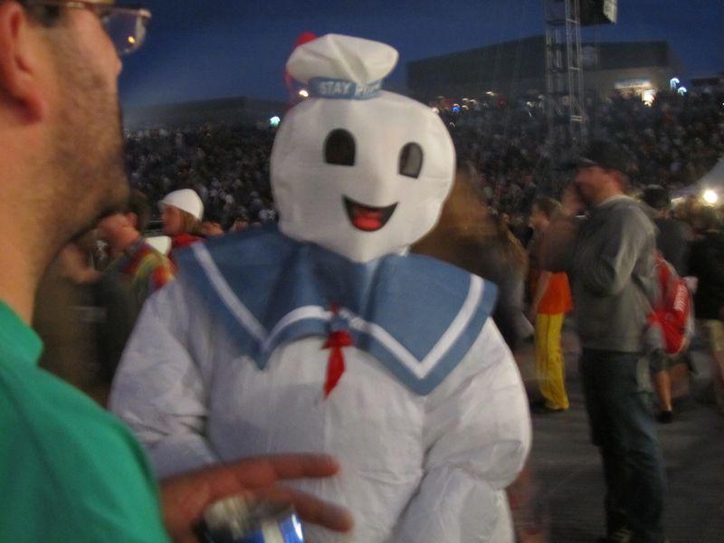 Stay Puff't marshmallow man at Phish Dicks 9/3/11