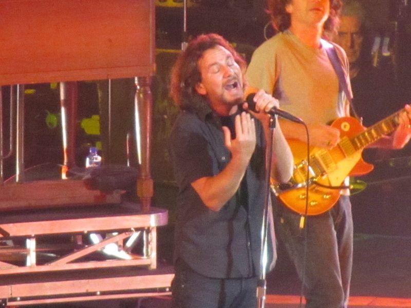 Eddie Vedder of Pearl Jam Oslo 7/9/12