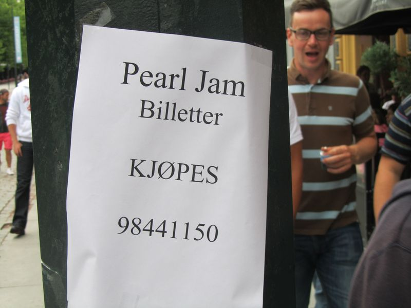 pearl Jam Oslo 7/9/12