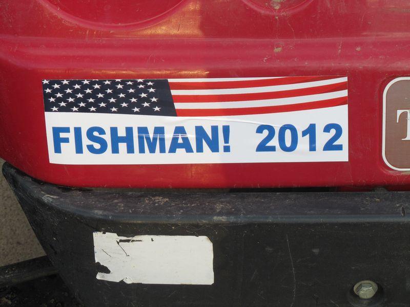 Fishman 2012 Bumper Sticker