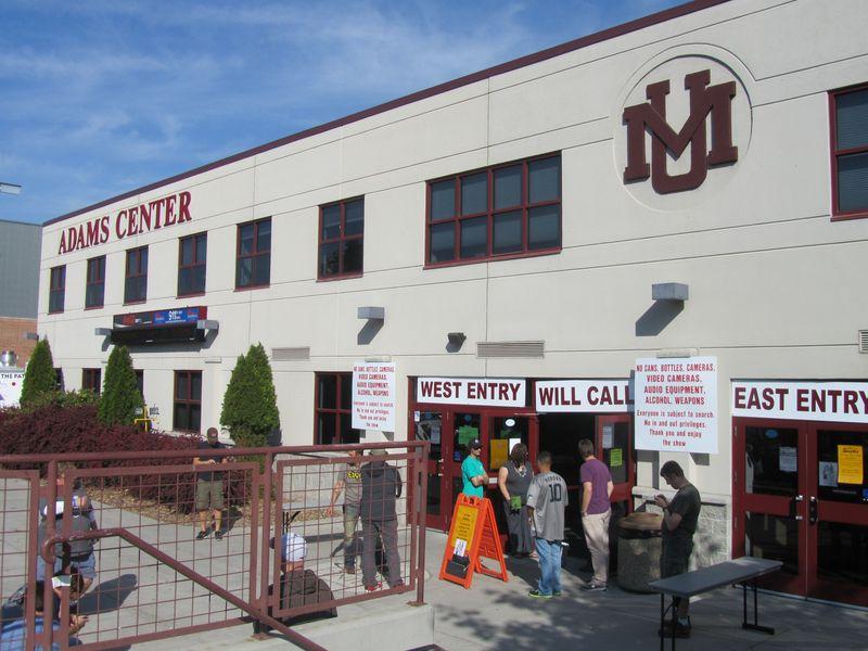 Pearl jam at Adams Center Missoula 9/30/12