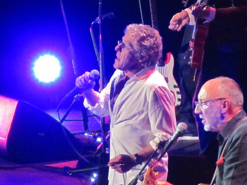 Roger Daltrey and Pete Townshend of the Who in Oakland 2/1/13