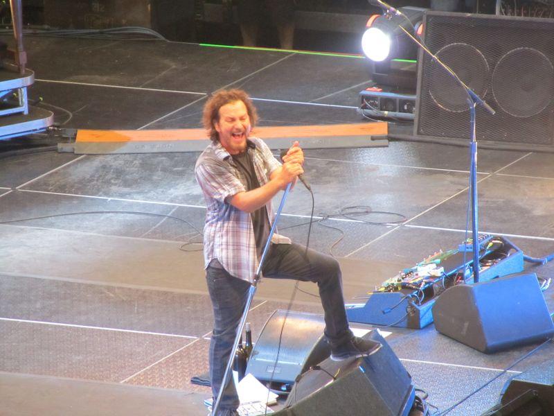 Eddie Vedder of Pearl Jam in Missoula 9/30/12