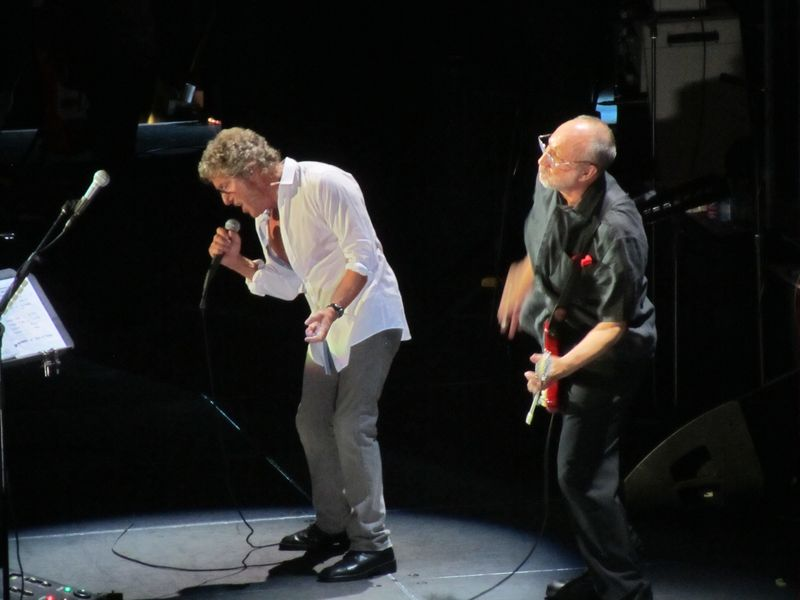 Roger Daltrey and Pete Townshend of The Who at Oakland 2/1/13