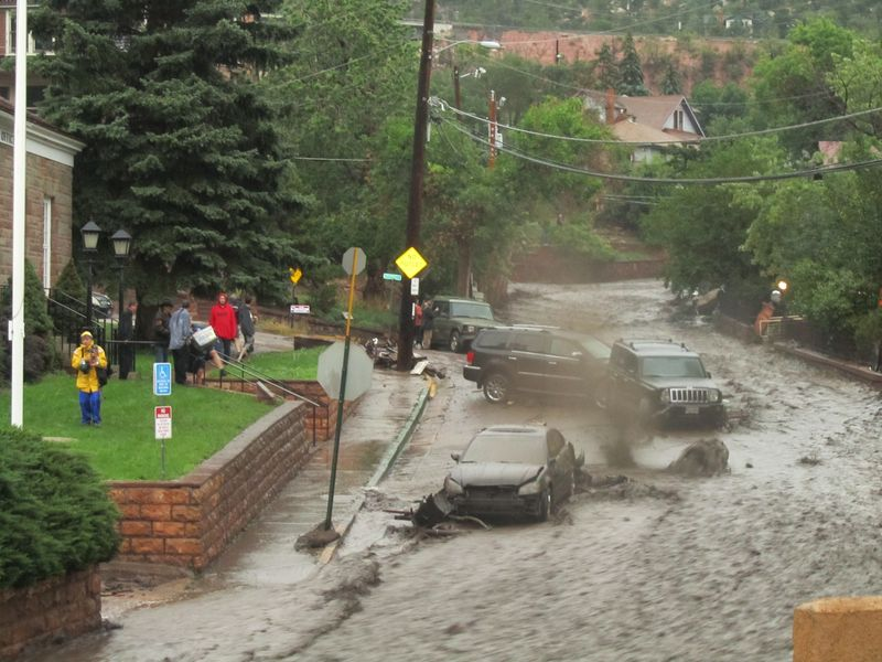 Manitou Springs CO flooding 8/9/2013