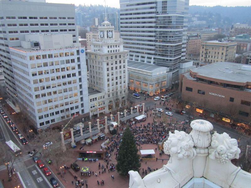 Portland OR 11/29/13 Christmas Tree Ceremony