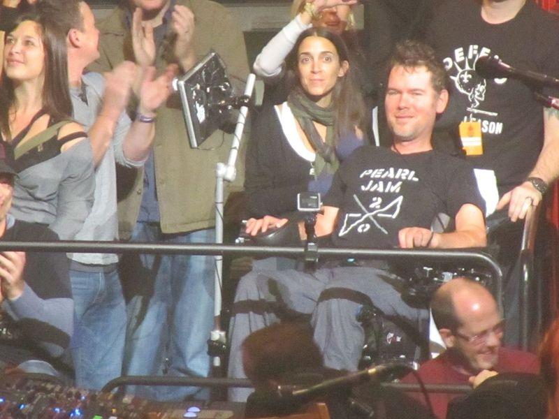 Steve Gleason at Pearl Jam Spokane WA 11/30/13