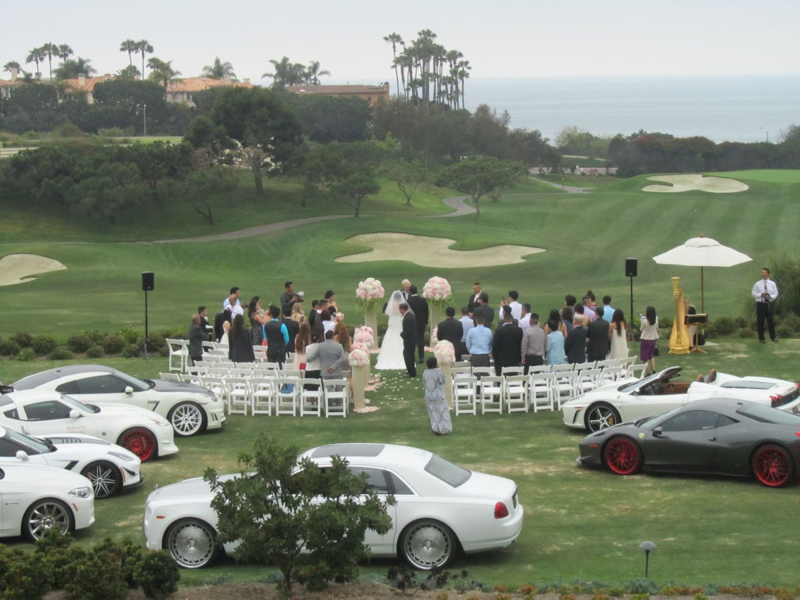 Cars as wedding guests